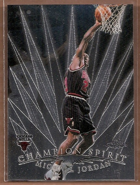 1998-99 Topps Chrome Champion Spirit #CS1 Michael Jordan