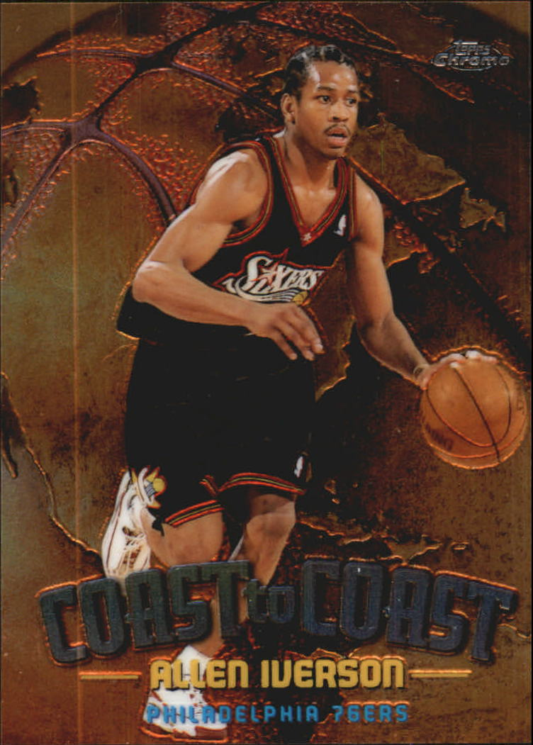 1998-99 Topps Chrome Coast to Coast #CC9 Allen Iverson