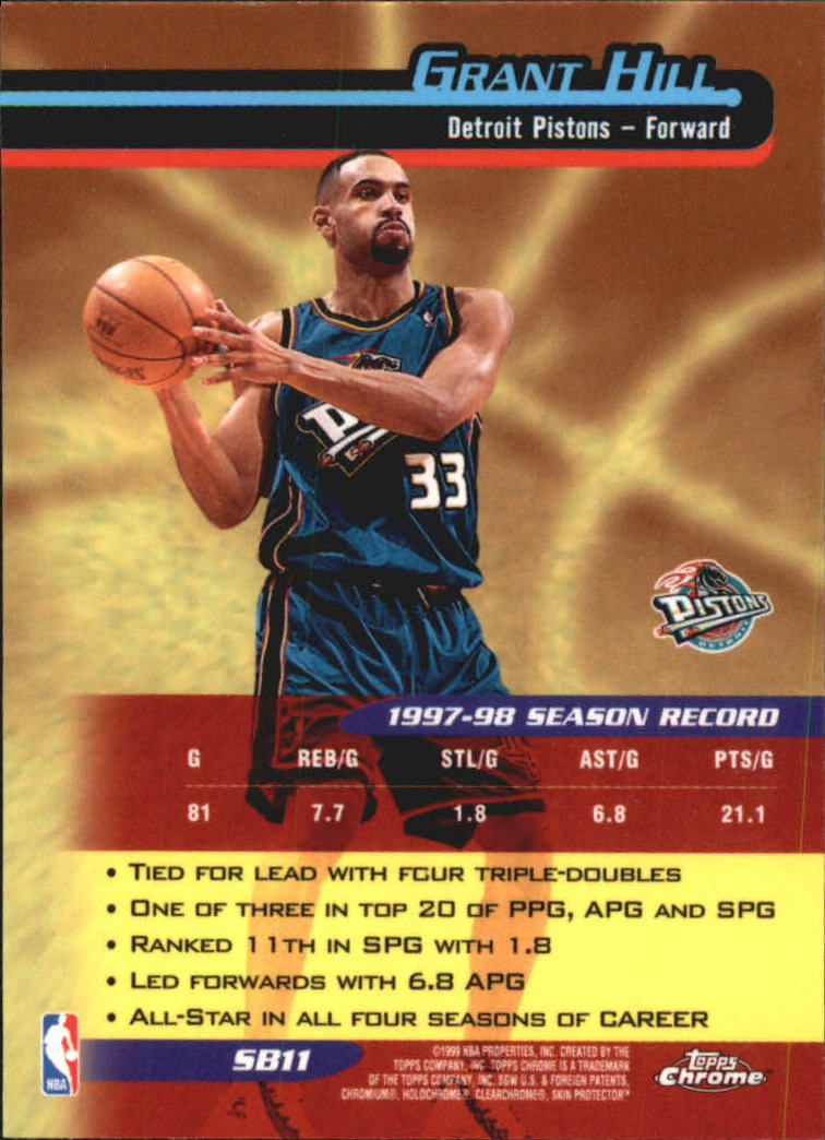 1998-99 Topps Chrome Season's Best #SB11 Grant Hill