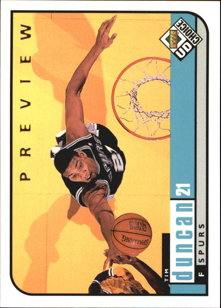 1998-99 UD Choice Preview #126 Tim Duncan