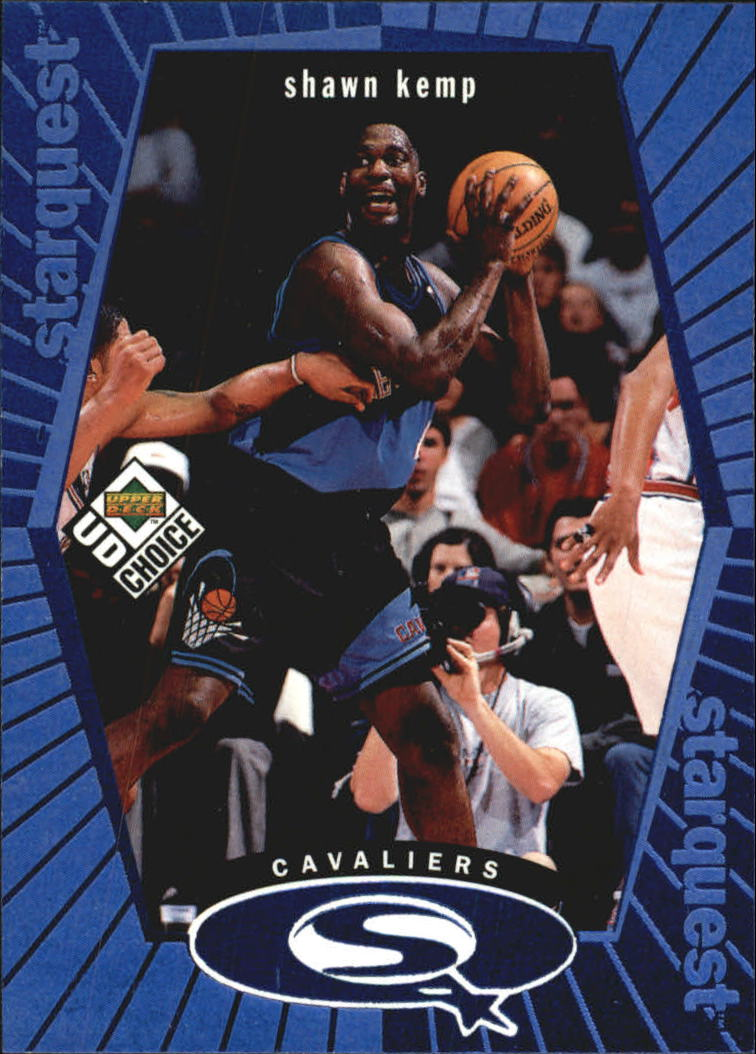 1998-99 UD Choice StarQuest Blue #SQ5 Shawn Kemp