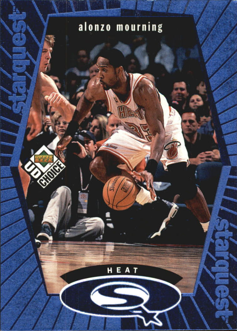 1998-99 UD Choice StarQuest Blue #SQ14 Alonzo Mourning