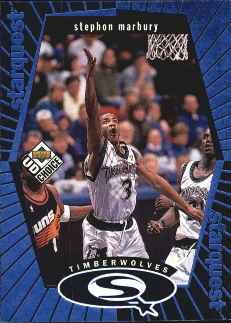 1998-99 UD Choice StarQuest Blue #SQ16 Stephon Marbury
