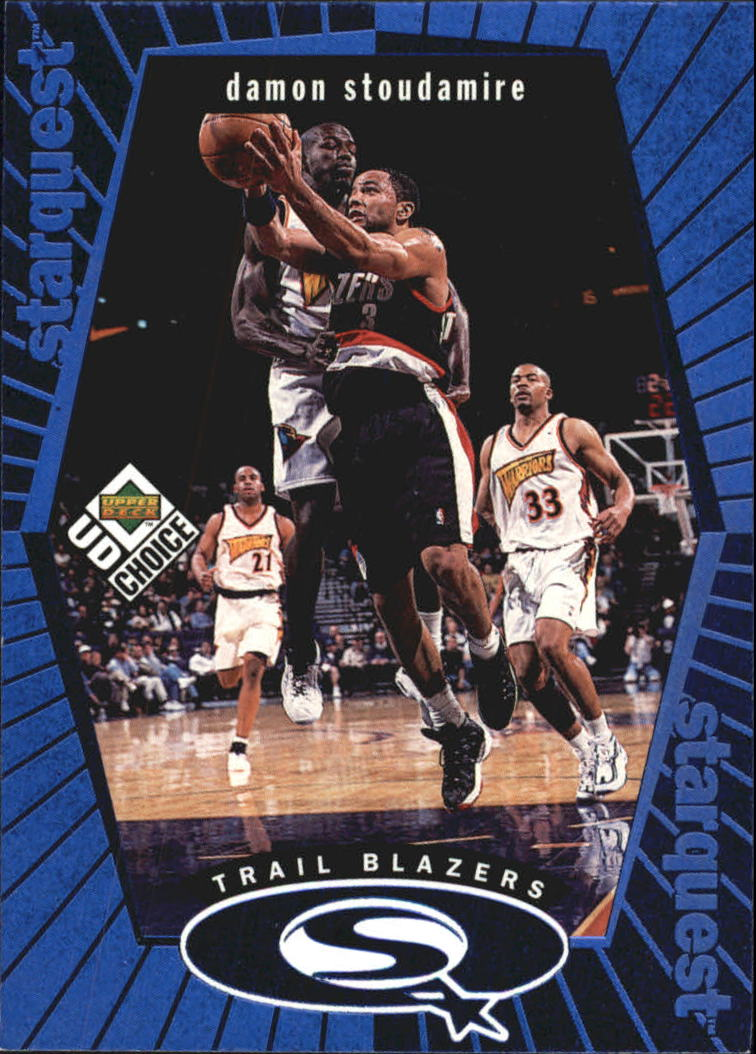 1998-99 UD Choice StarQuest Blue #SQ22 Damon Stoudamire