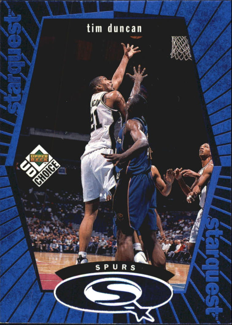 1998-99 UD Choice StarQuest Blue #SQ24 Tim Duncan