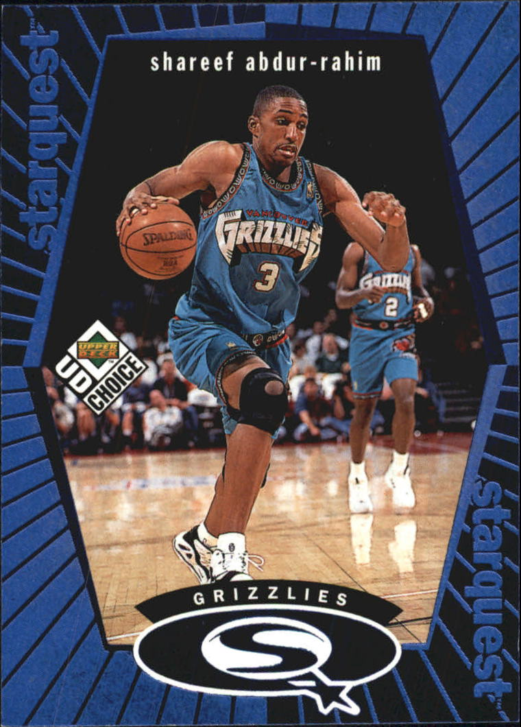 1998-99 UD Choice StarQuest Blue #SQ28 Shareef Abdur-Rahim