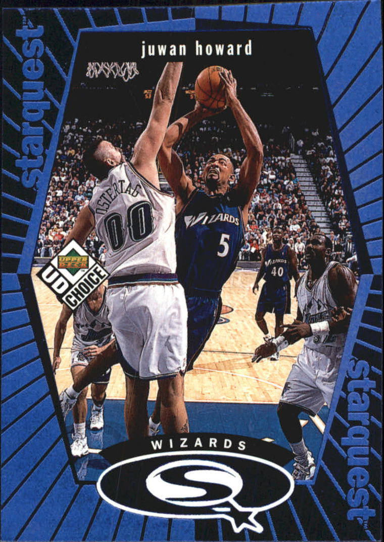 1998-99 UD Choice StarQuest Blue #SQ29 Juwan Howard