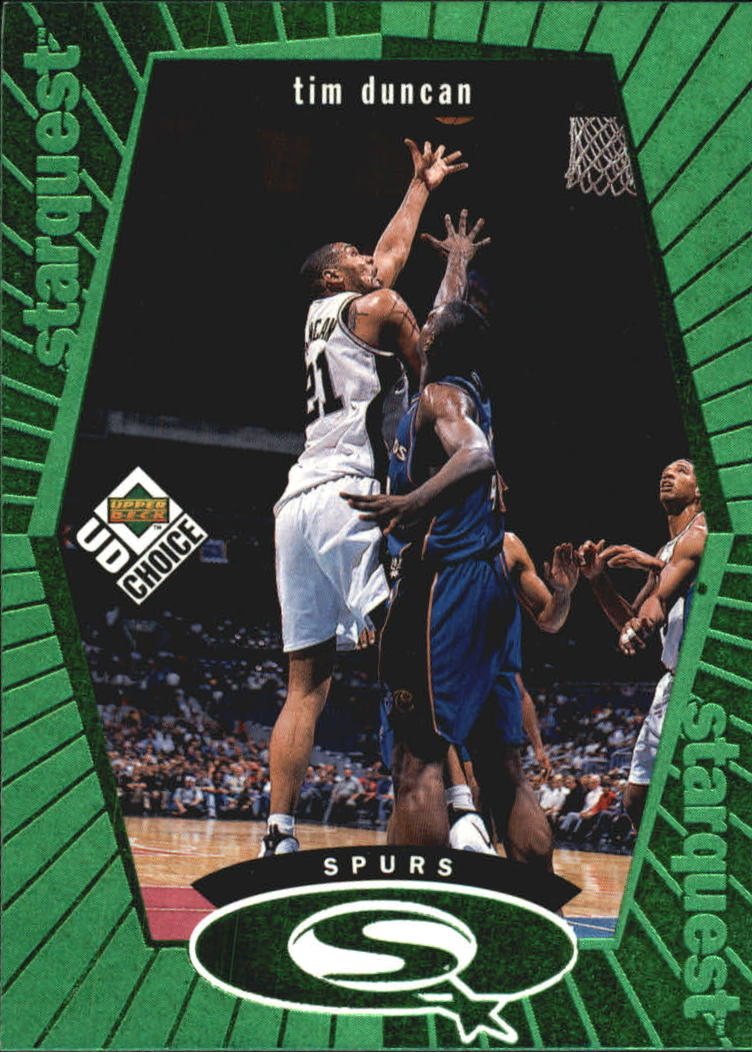 1998-99 UD Choice StarQuest Green #SQ24 Tim Duncan