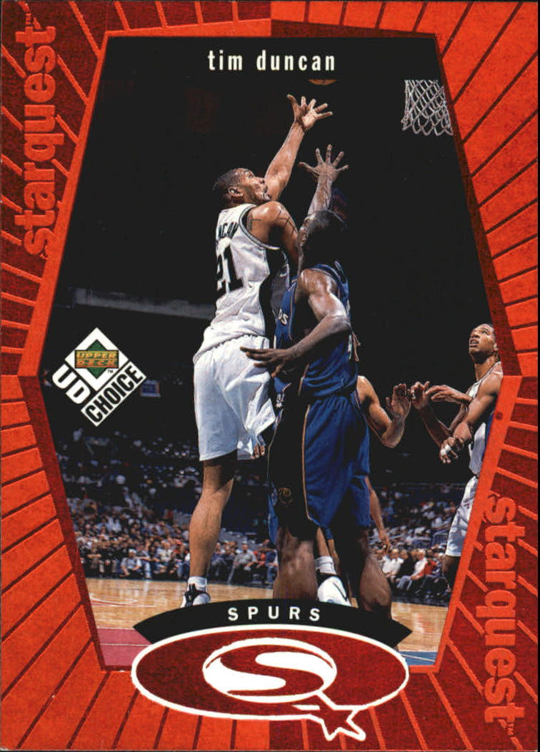 1998-99 UD Choice StarQuest Red #SQ24 Tim Duncan