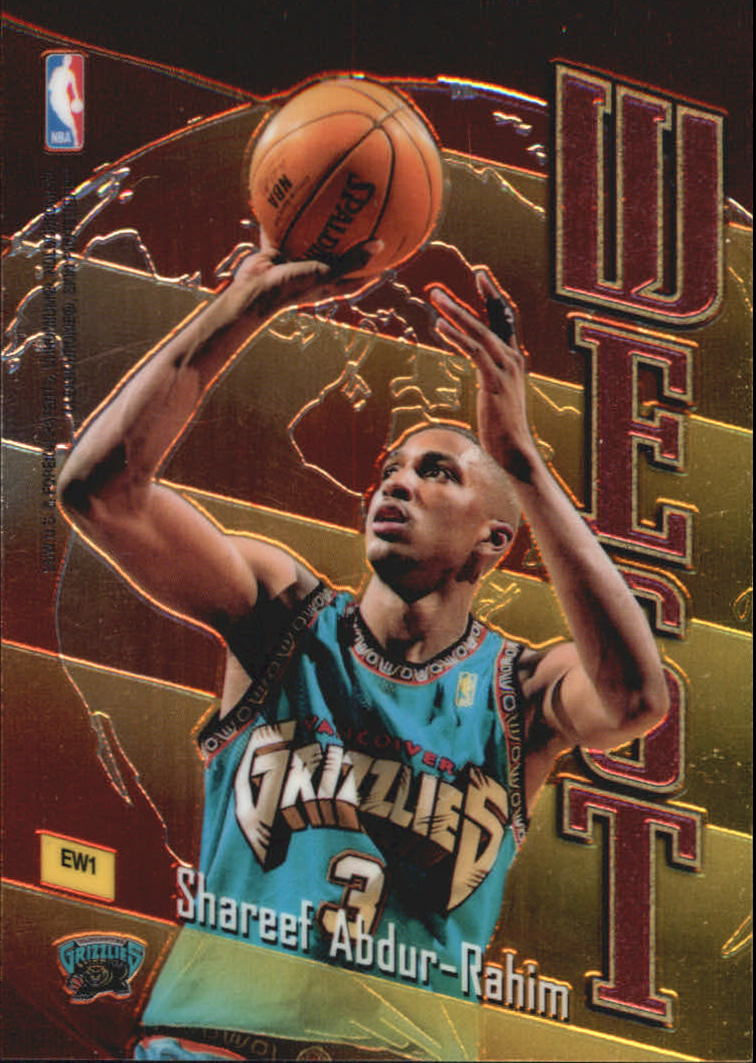 1998-99 Topps East/West #EW1 Antoine Walker/Shareef Abdur-Rahim back image