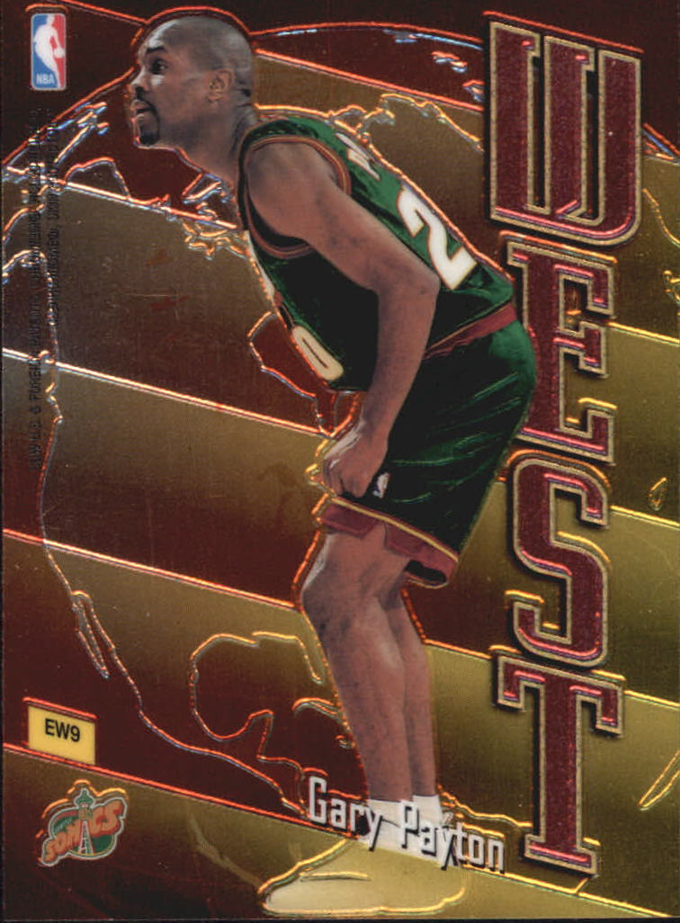 1998-99 Topps East/West #EW9 Allen Iverson/Gary Payton back image