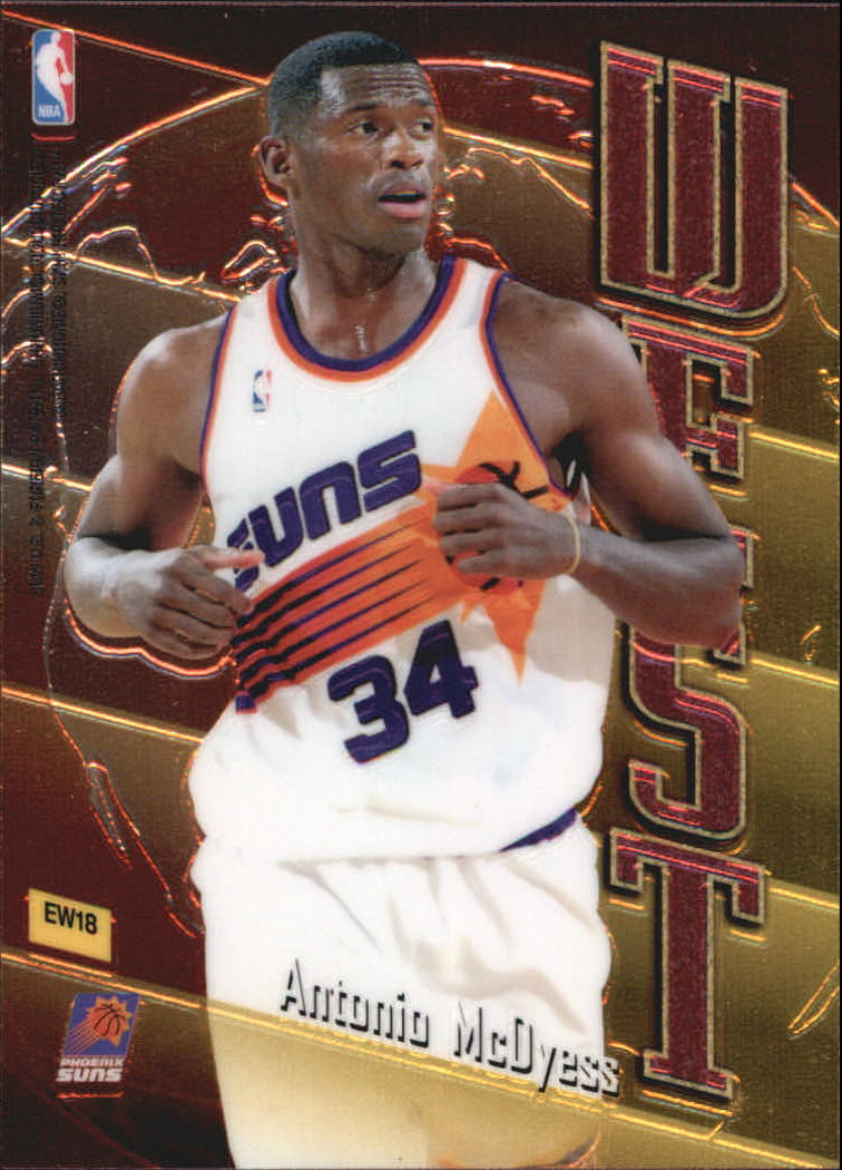 1998-99 Topps East/West #EW18 Tim Thomas/Antonio McDyess back image
