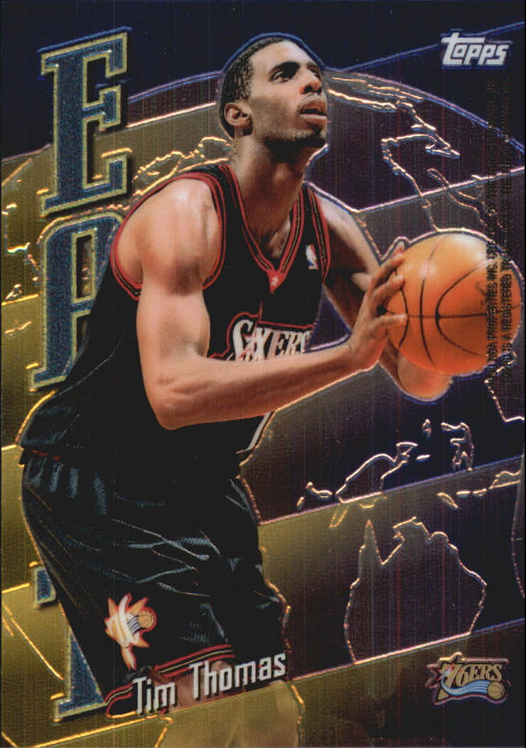 1998-99 Topps East/West #EW18 Tim Thomas/Antonio McDyess