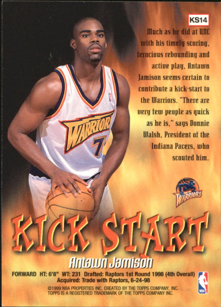 1998-99 Topps Kick Start #KS14 Antawn Jamison back image