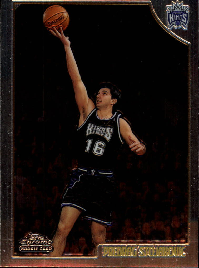1998-99 Topps Chrome #201 Peja Stojakovic RC