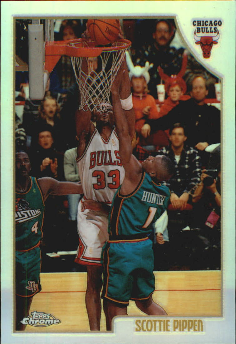 1998-99 Topps Chrome Refractors #1 Scottie Pippen
