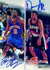 1998-99 Stadium Club Co-Signers #CO2 Larry Johnson/Damon Stoudamire