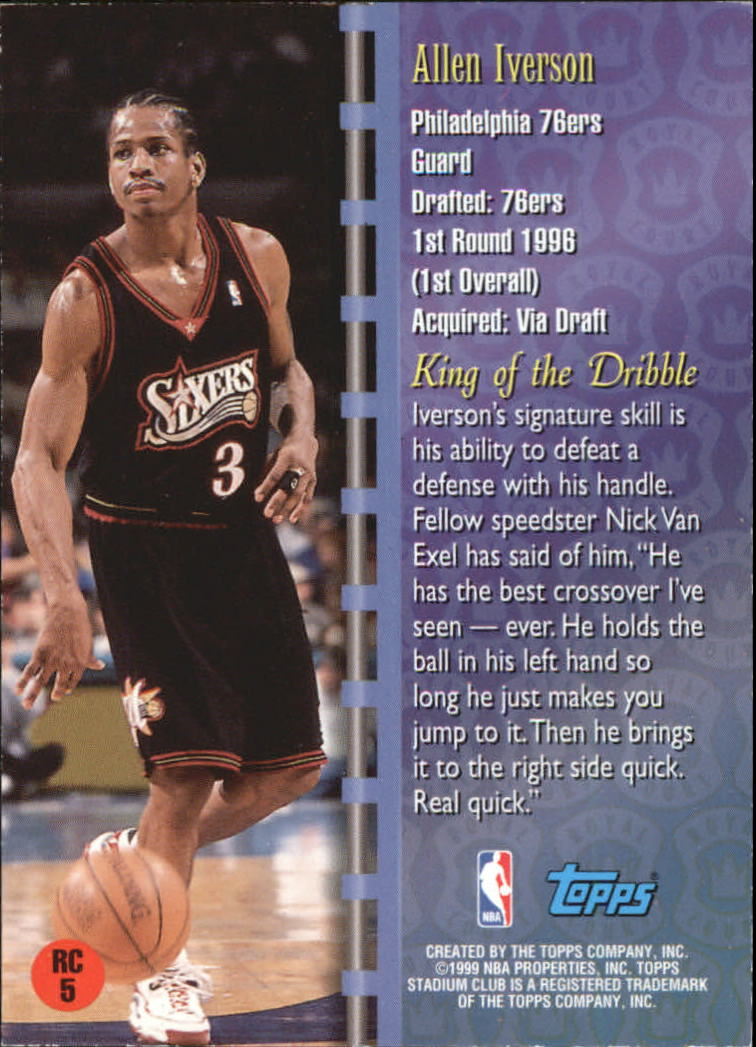 1998-99 Stadium Club Royal Court #RC5 Allen Iverson back image
