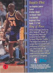 1998-99 Stadium Club Royal Court #RC6 Shaquille O'Neal back image