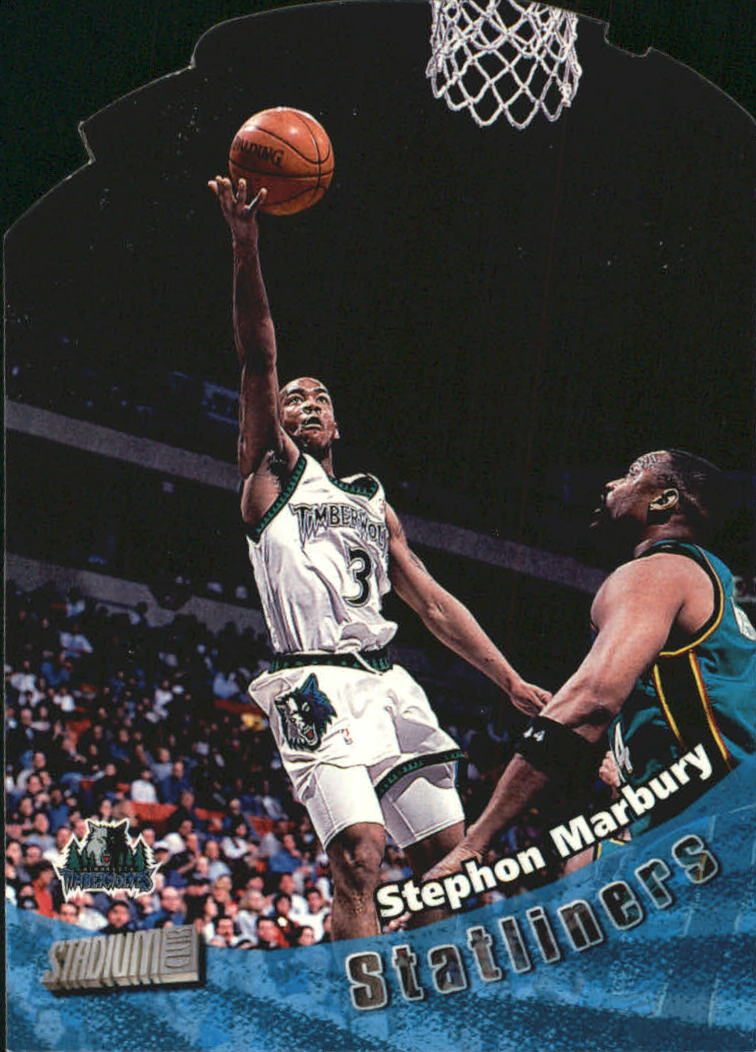 1998-99 Stadium Club Statliners #S11 Stephon Marbury