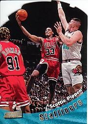 1998-99 Stadium Club Statliners #S18 Scottie Pippen