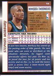 1998-99 Topps #58 Stephon Marbury back image