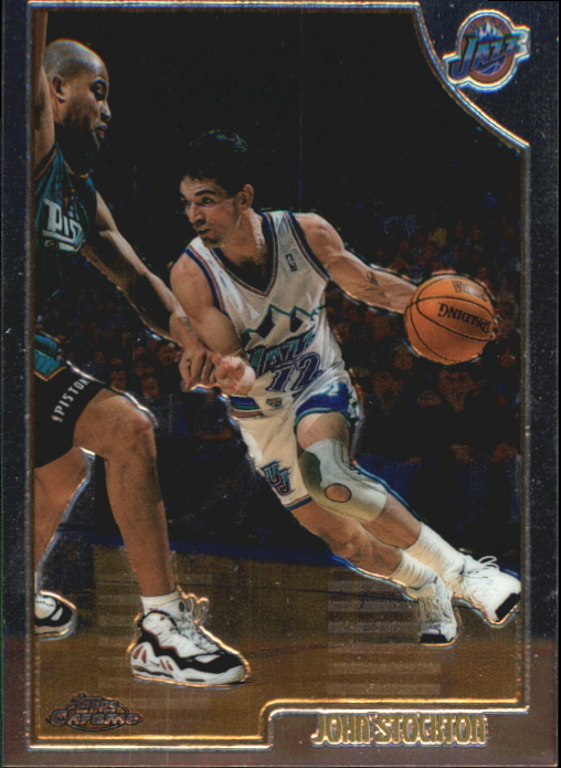 1998-99 Topps Chrome Preview #73 John Stockton
