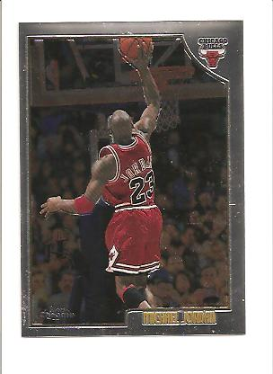1998-99 Topps Chrome Preview #77 Michael Jordan