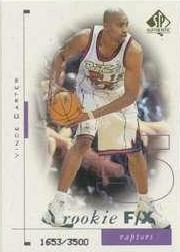 1998-99 SP Authentic #95 Vince Carter RC