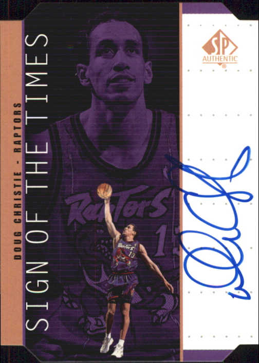 1998-99 SP Authentic Sign of the Times Bronze #DC Doug Christie