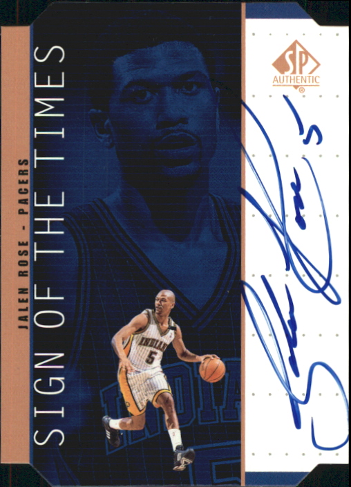 1998-99 SP Authentic Sign of the Times Bronze #JR Jalen Rose