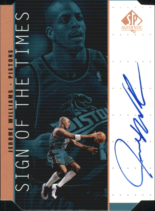 1998-99 SP Authentic Sign of the Times Bronze #JW Jerome Williams