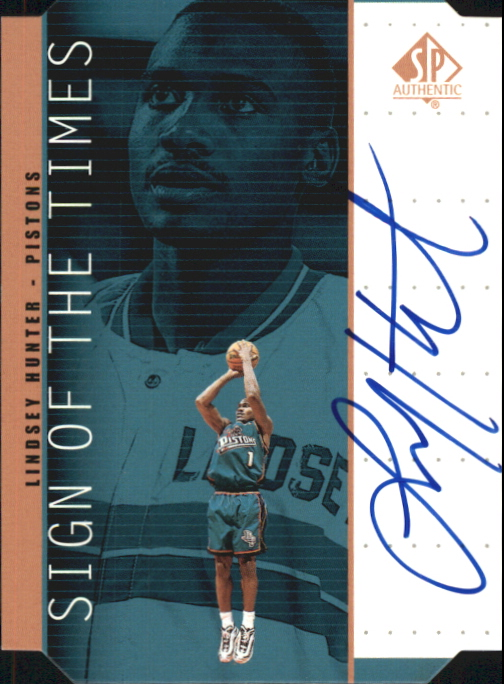 1998-99 SP Authentic Sign of the Times Bronze #LH Lindsey Hunter