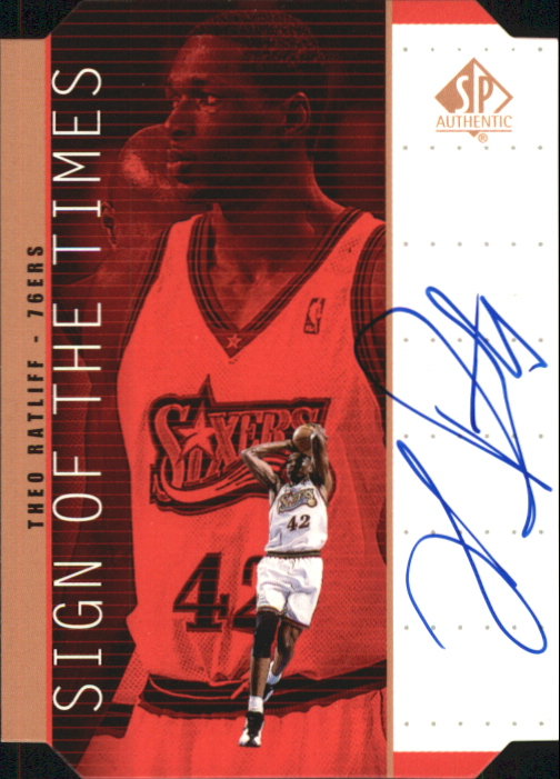 1998-99 SP Authentic Sign of the Times Bronze #TR Theo Ratliff