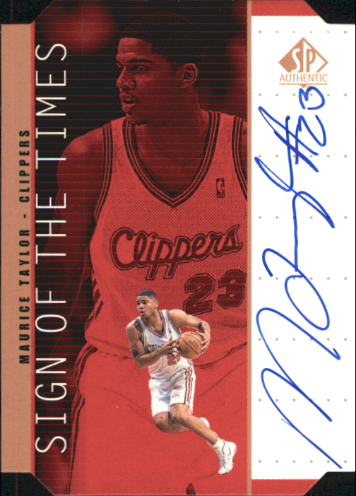 1998-99 SP Authentic Sign of the Times Bronze #TY Maurice Taylor