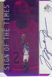 1998-99 SP Authentic Sign of the Times Gold #MJ Michael Jordan