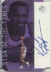 1998-99 SP Authentic Sign of the Times Silver #VC Vince Carter