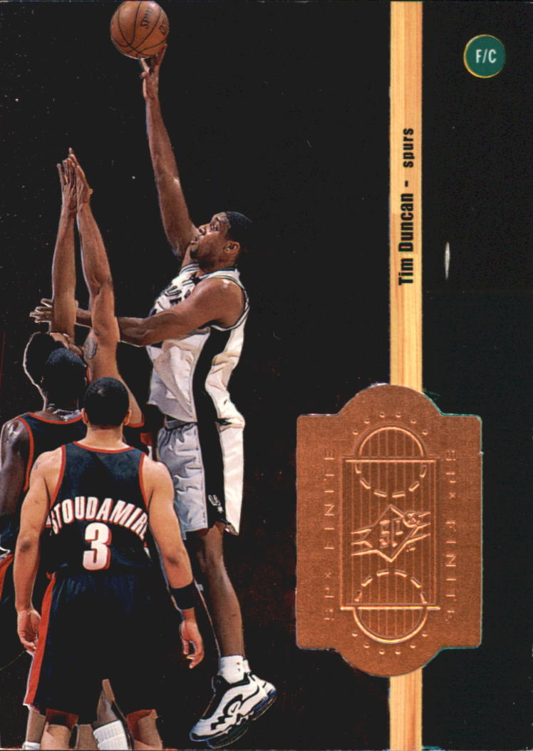 1998-99 SPx Finite #68 Tim Duncan