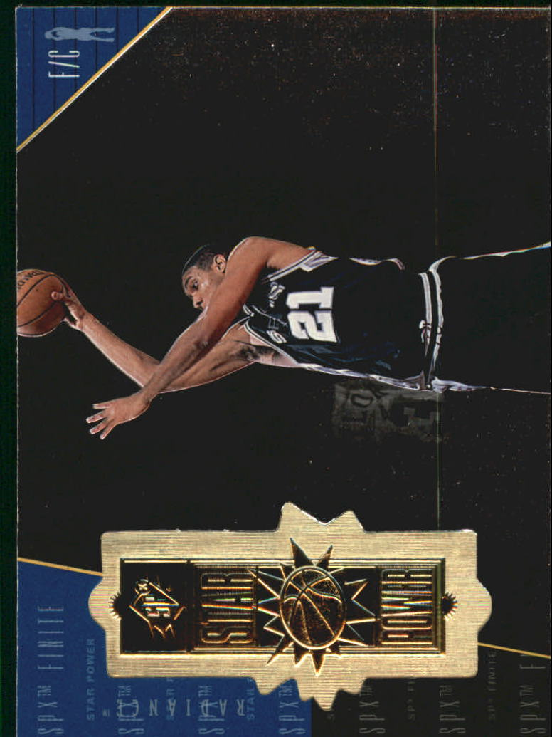 1998-99 SPx Finite Radiance #107 Tim Duncan SP