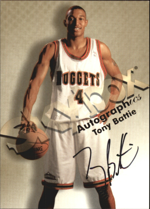 1998-99 SkyBox Premium Autographics #11 Tony Battie