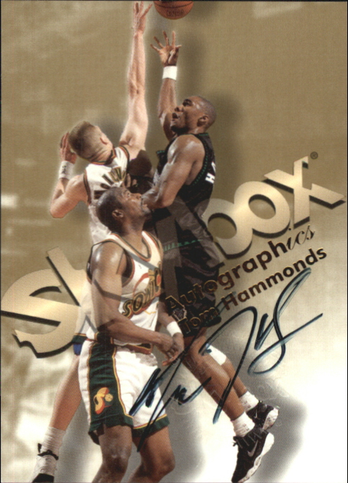 1998-99 SkyBox Premium Autographics #48 Tom Hammonds