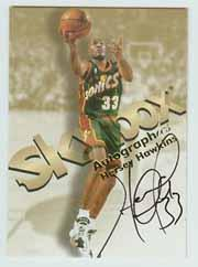 1998-99 SkyBox Premium Autographics #52 Hersey Hawkins