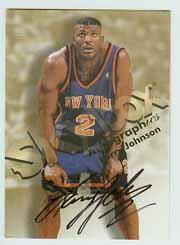 1998-99 SkyBox Premium Autographics #65 Larry Johnson