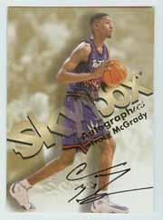 1998-99 SkyBox Premium Autographics #84 Tracy McGrady