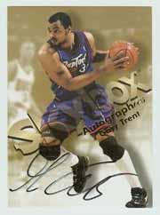 1998-99 SkyBox Premium Autographics #126 Gary Trent