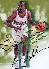 1998-99 SkyBox Premium Autographics #130 Eric Washington