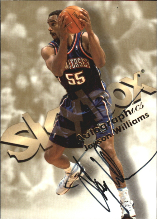 1998-99 SkyBox Premium Autographics #136 Jayson Williams