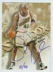 1998-99 SkyBox Premium Autographics Blue #9 Vin Baker