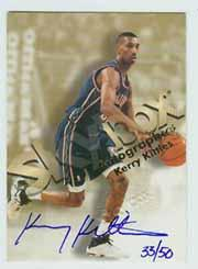 1998-99 SkyBox Premium Autographics Blue #71 Kerry Kittles
