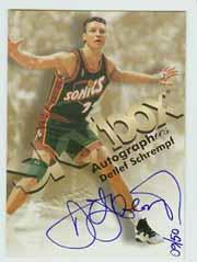 1998-99 SkyBox Premium Autographics Blue #110 Detlef Schrempf